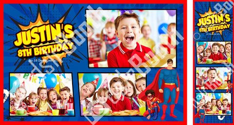 Children's Superhero Birthday Template
