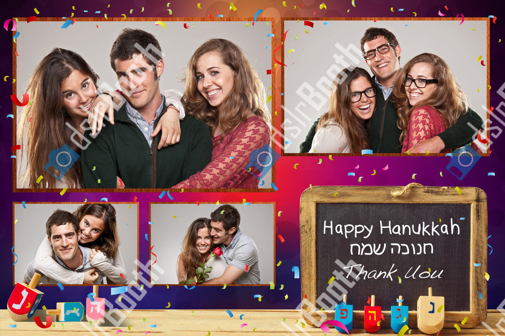 Hanukkah Four Horizontal Poses