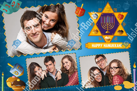 Hanukkah Three Poses Horizontal