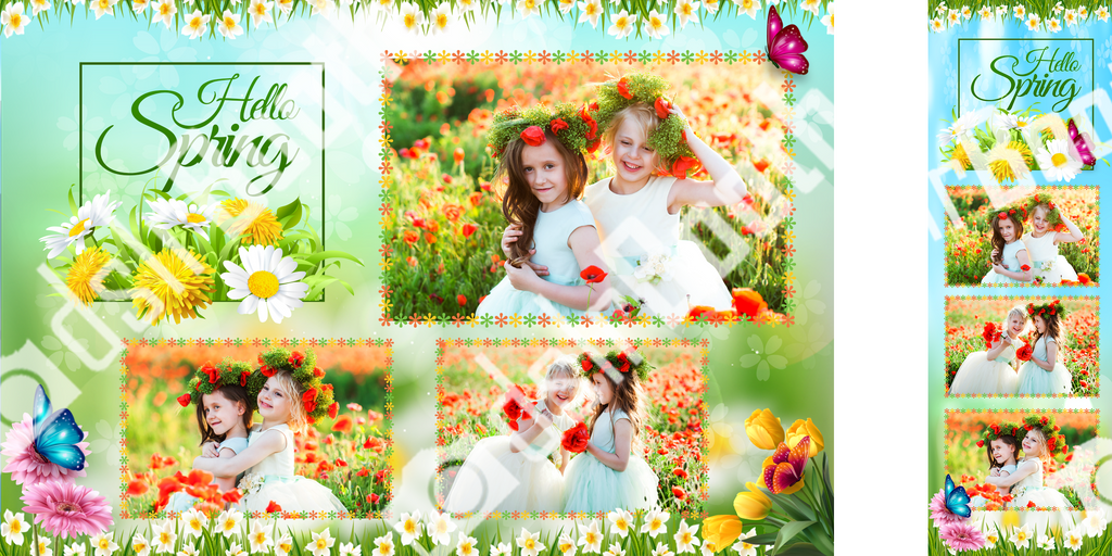 spring flower template dslrbooth store
