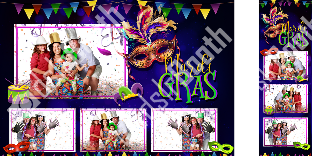 Mardi Gras Blue Template