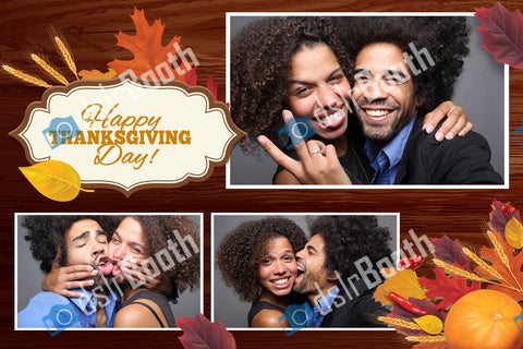 Fall/Thanksgiving Three Poses Horizontal