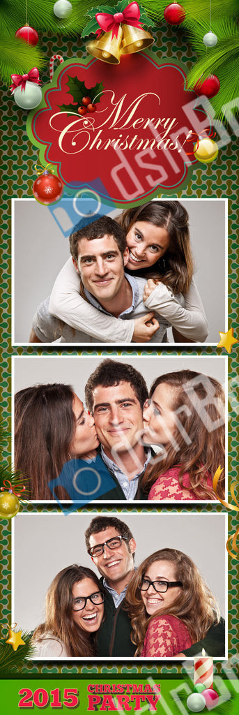 Christmas 3 Poses Vertical Strip