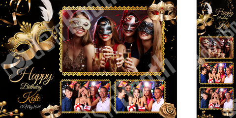 Masquerade Birthday Template