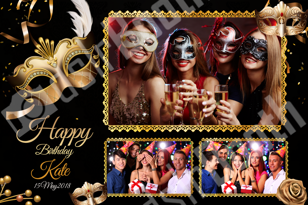 Masquerade Birthday Template Dslrbooth Store