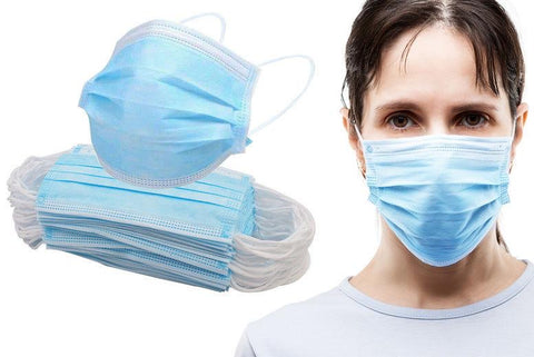 50 Pack 3-Ply Disposable Face Masks