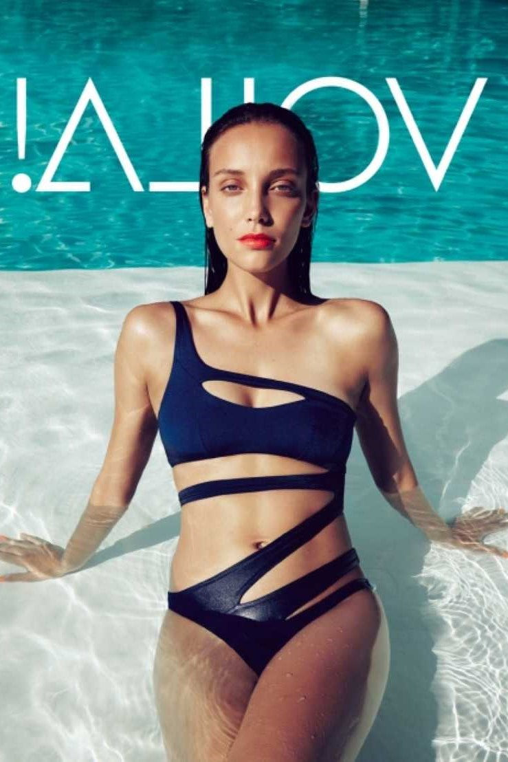 Black Cut Out One Shoulder Swimsuit One Piece