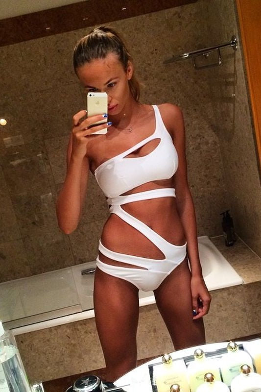 Cut Out One Shoulder Swimsuit One Piece