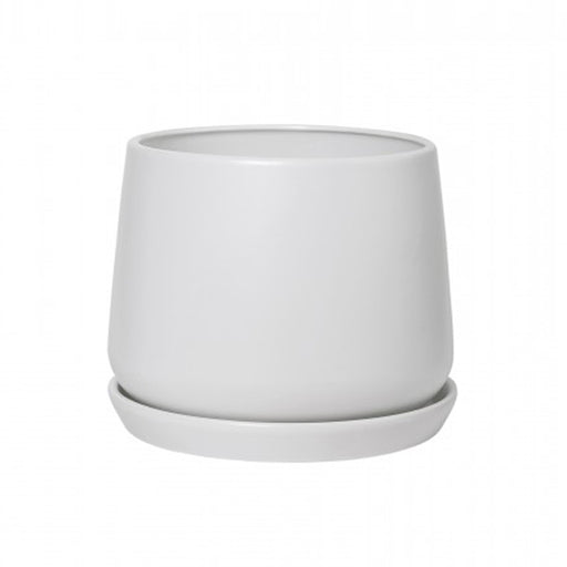 White Copenhagen Planter + Saucer - Large