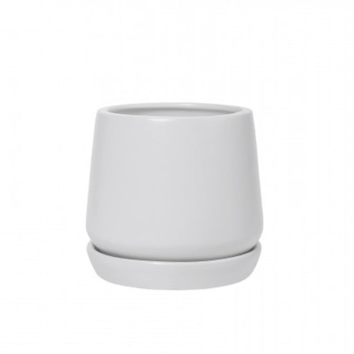 White Copenhagen Planter + Saucer - Small