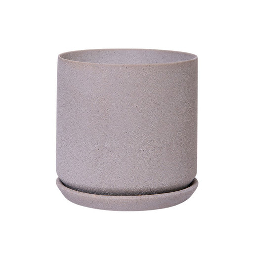 Large Helsinki Planter + Saucer - Dusty Grey