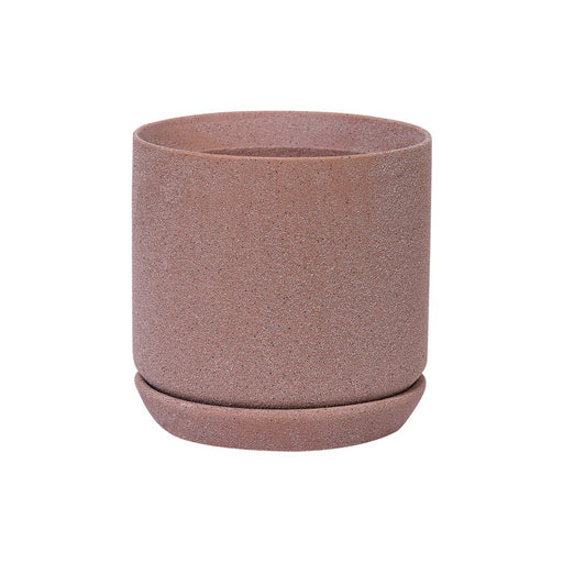 Medium Helsinki Planter + Saucer - Dusty Rose