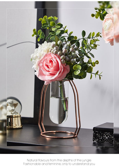 Nordic Home Decoration Accessories Decoracion Hogar Moderno Vase Decoration Home Terrarium Glass Vase for Flowers Living Room