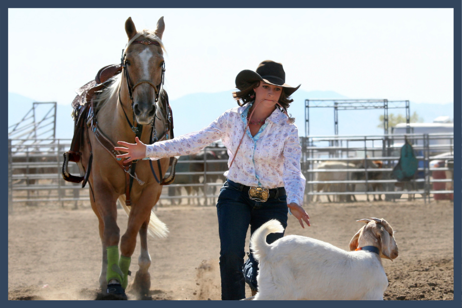 Cowgirl et son cheval