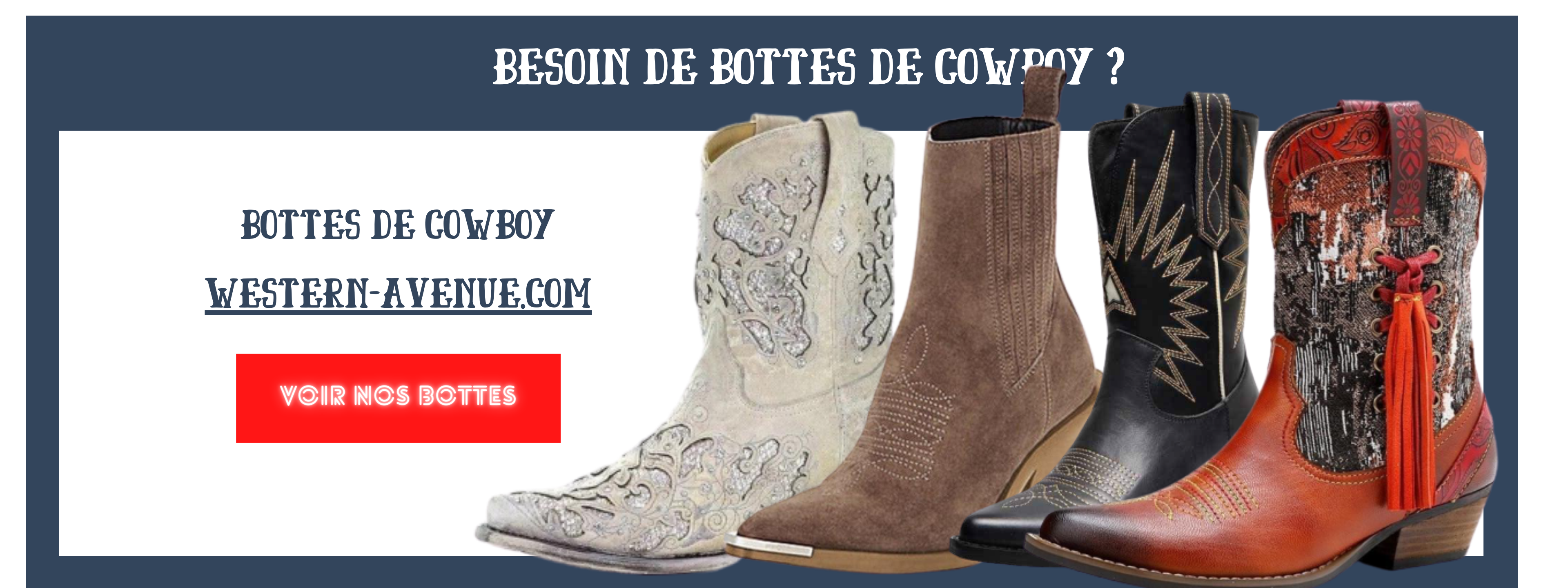Collection bottes de cowboy