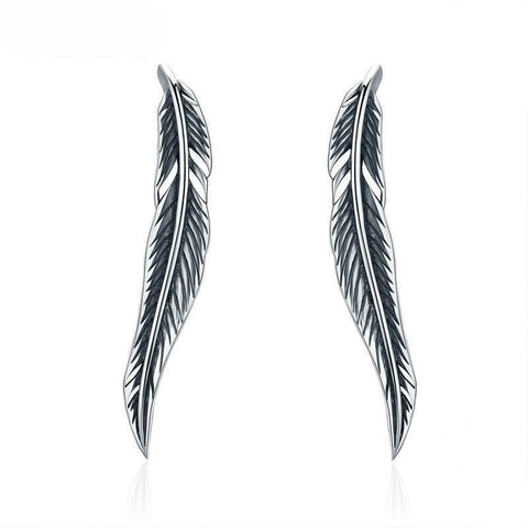 Boucles d'oreilles Western Dark Feather | Western-Avenue