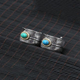 2 Bagues Argent Plume Turquoise (Couple) - Western-Avenue