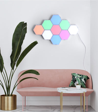 15 pcs Quantum Colorful lamp led modular touch sensitive lighting decoration wall