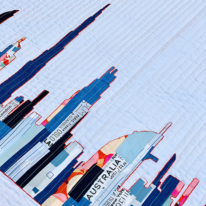 Scrappy Appliqué with the Dubai Skyline Quilt