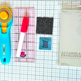 Supplies for handmade stitched cards
