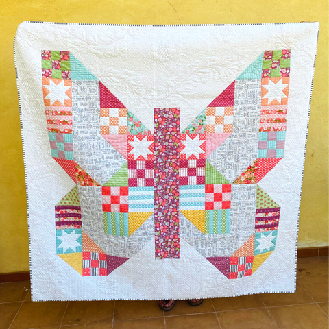See my blog for more information - Butterfly Patch quilt