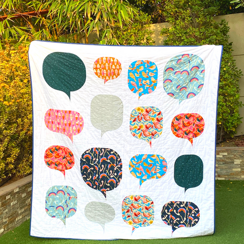 Chatbot Quilt - made by Dotty & Grace