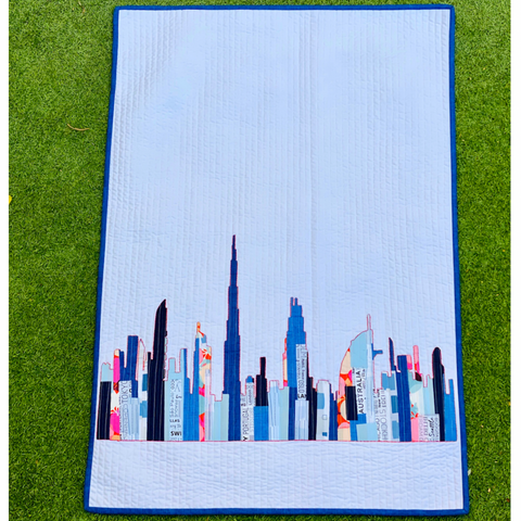 Dubai Skyline Scrappy Applique