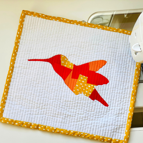 Scrappy Appliqué Hummingbird