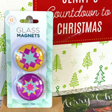 Quilty Glass Magnets