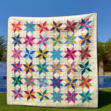 Lemon Star Quilt stitched by Dotty and Grace