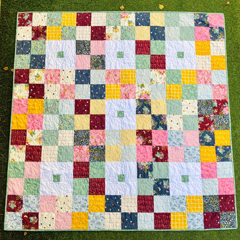 Mint Patch Quilt by Janelle of Dotty and Grace