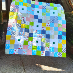 Mint Patch Quilt by Margaret of @quiltylass