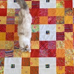Mint Patch Quilt by Tatyana @lolathamel