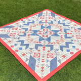 Mystery Quilt with Laundry Basket Quilts stitched by Dotty and Grace