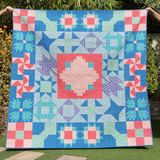 Block Challenge quilt - Dotty and Grace