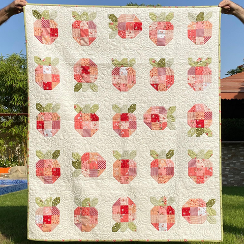 Strawberry Fields Quilt - pattern by Citrus and Mint Designs