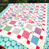 Super Simple Squares Quilt stitched by Dotty and Grace