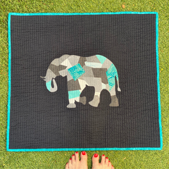 Scrappy Appliqué Elephant Wall Hanging by Dotty and Grace