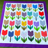 Totally Tulips quilt stitched by Dotty and Grace