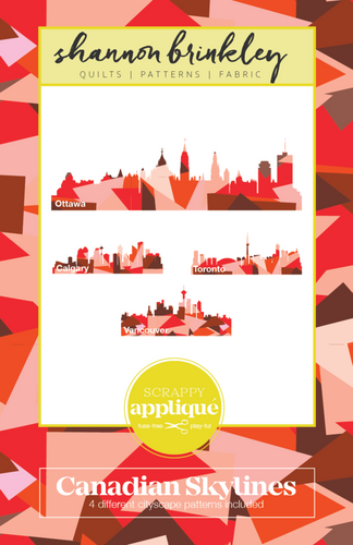 Canadian Skylines Scrappy Appliqué Paper Pattern