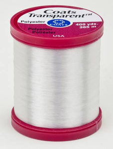 Coats Transparent Polyester Thread 400yds