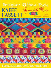 Load image into Gallery viewer, Kaffe Fassett Spanish Rose Designer Ribbon Pack