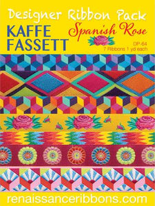 Kaffe Fassett Spanish Rose Designer Ribbon Pack