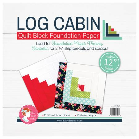 Log Cabin - Quilt Block Foundation Paper - 12 inch