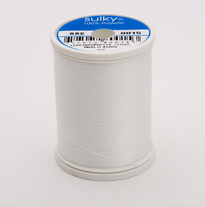 Bobbin Thread Sulky 60wt - White - 1,100 yd. Spool