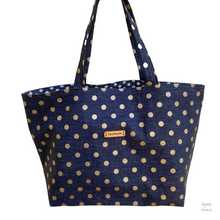 Load image into Gallery viewer, Tote - Dotty Denim