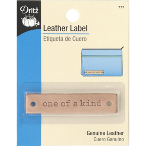 Leather Label - One of a Kind