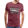 Man Wearing Come Paddle on Spider Lake Vintage T-Shirt Heather Burgundy