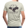 Man wearing Spider Lake Eagle Flights T-Shirt