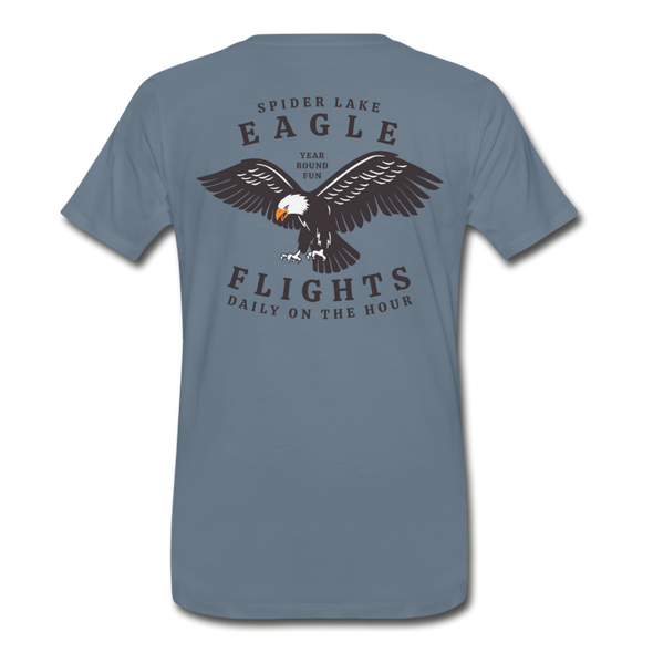 Spider Lake Eagle Flights T-Shirt - steel blue